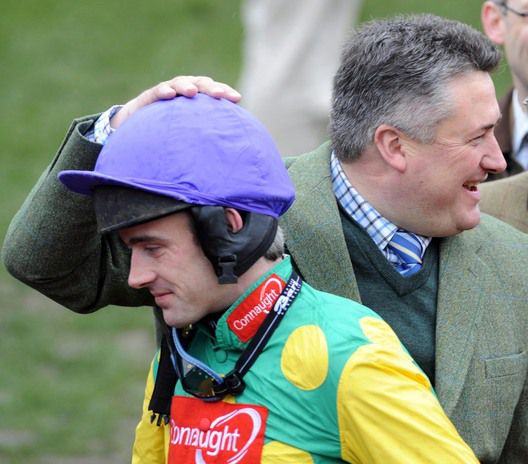 Winning jockey and trainer, Ruby Walsh and Paul Nicholls
