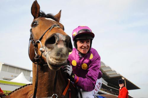 Big Zeb and Barry Geraghty after winning the 2010 Champion Chase