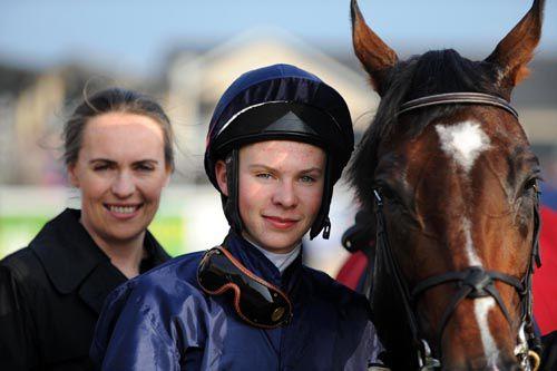 Joseph O'Brien rode a winner for his mum Anne-Marie