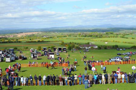 A view of the point to point at Bartlemy