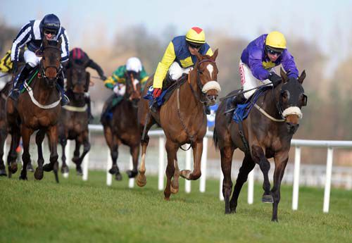 Hisaabaat winning at Leopardstown