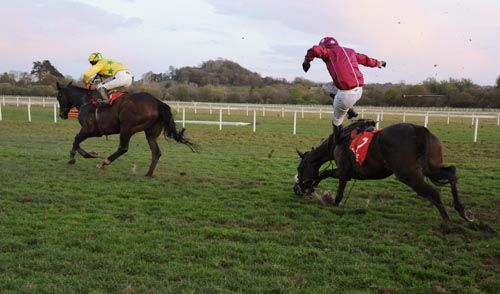 Ransom races away from the last as Robert Jones is unseated from Play The Wing