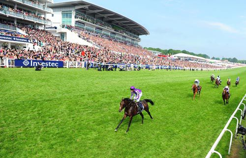 Camelot is the clear winner of the Investec Derby at Epsom last June