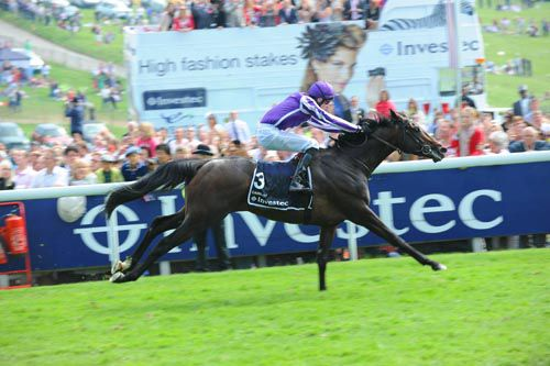 Camelot in full flow winning the Investec Derby at Epsom last year