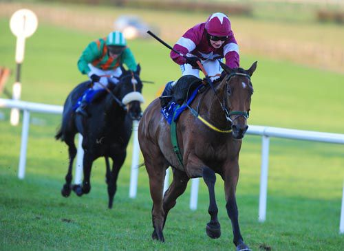 Road To Riches pictured winning his bumper at Naas