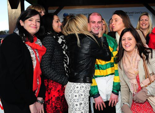A happy scene after Grange's win at Punchestown