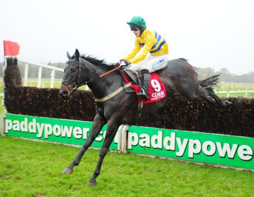 Snooze and Ian McCarthy are well clear after the last at Cork