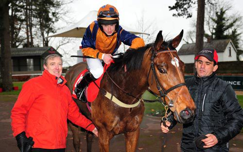 Happy New Year with connections after he took the fourth at Gowran