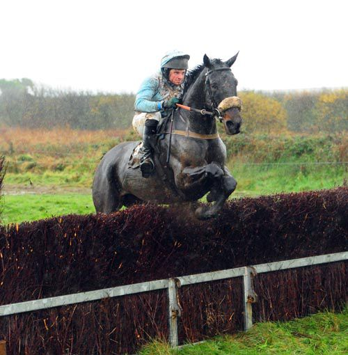 Burren River and Sonny Carey clear the last on the way to victory at Lingstown last Sunday