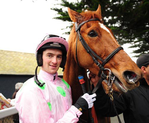 Patrick Mullins with Annie Power after their win