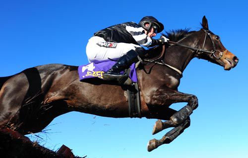 Tasitiocht and Patrick Mullins clear the last