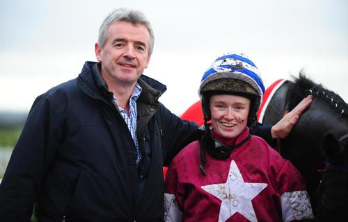 Owner Michael O'Leary with Jane Mangan