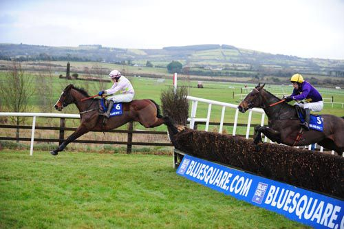 Mikael D'Haguenet wininng at Punchestown