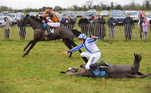 Action from the last meet at Tattersalls Farm
