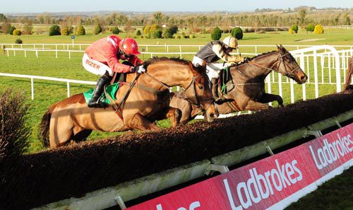 Boston Bob (right) winning at Navan