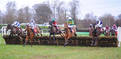 Supreme Carolina, left, swoops to conquer at Leopardstown
