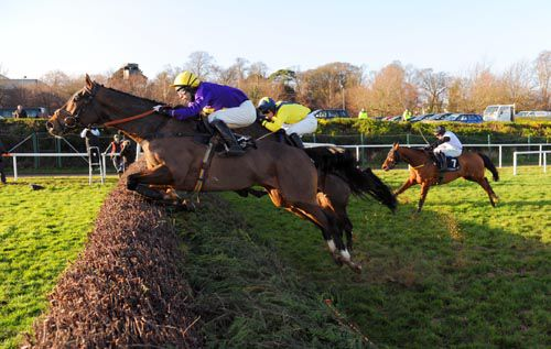 Lord Windermere jumps the last just ahead of Star Neuville