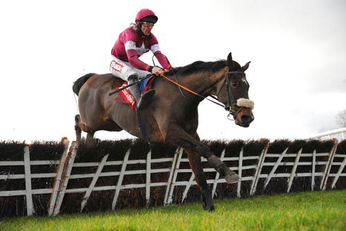 Bog Warrior and Davy Russell clear the last at Punchestown