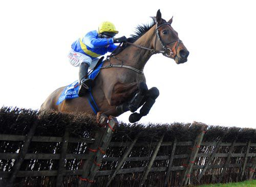 Annie Oakley & Robbie Power jump the last on their way to victory