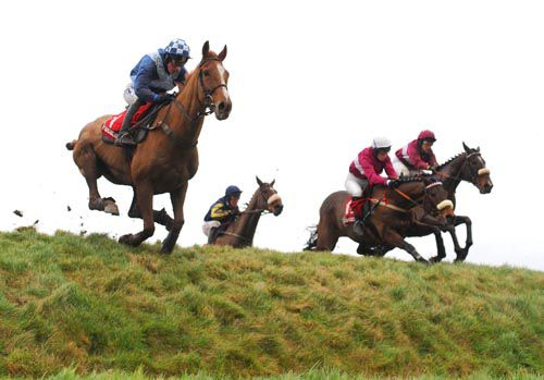 Arabella Boy (left) clears Ruby's Double