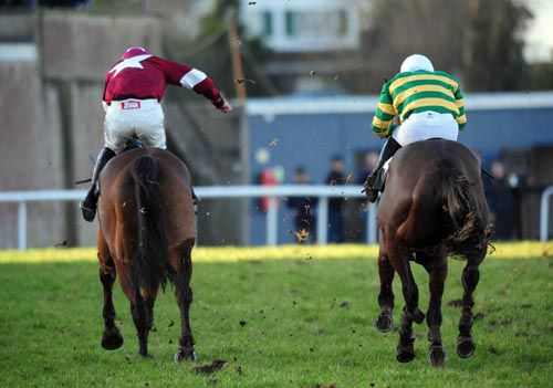 Carry Each Other (left) swoops on Western Man at Thurles
