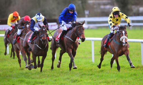 From left to right; Romantic Fashion, Overwater & Vic Dancer battle out the finish