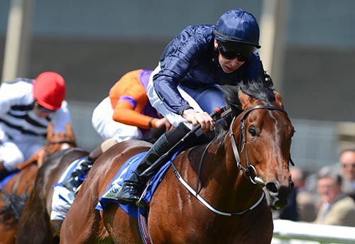 Coach House and Joseph O'Brien in winning action at the Curragh