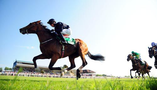 League Of Nations & Joseph O'Brien on their way to victory in the last at Navan