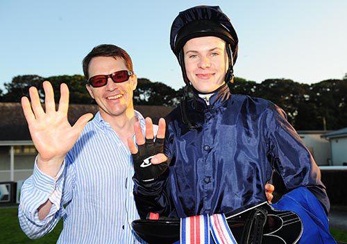Aidan and Joseph O'Brien celebrate the five-timer
