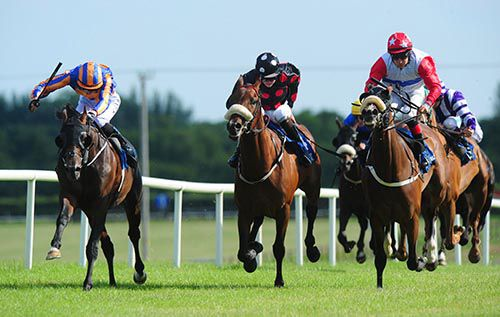 Kingdom (left) is driven out by Joseph O'Brien to beat Zafarqand (centre) and Bensoon
