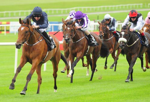 Dazzling leads them home in the first at the Curragh
