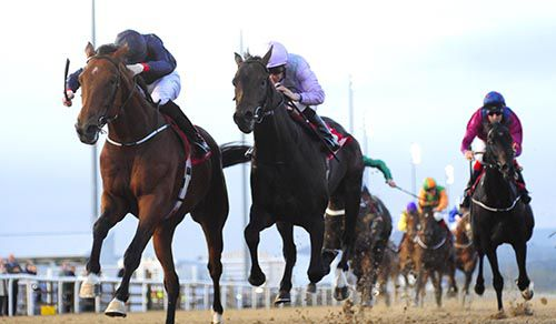 Red Rocks Point is driven out by Joseph O'Brien (left) to beat Cheeky Chappie