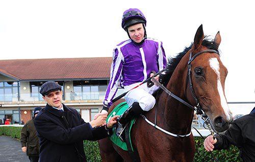 Aidan O'Brien congratulates his record-breaking son Joseph aboard Marvellous