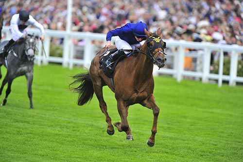 Acapulco and Ryan Moore winning the Queen Mary Stakes