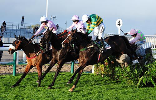 Josies Orders (Nina Carberry, nearside) as Dogora and Katie Walsh part company